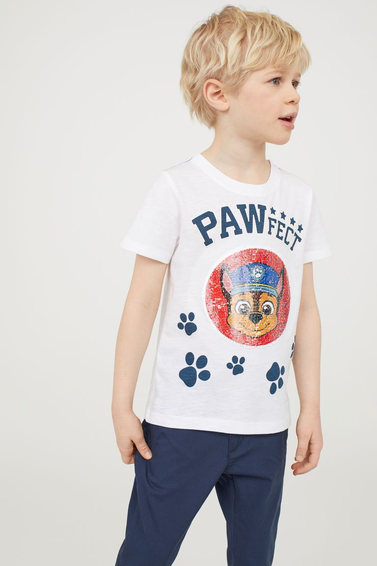 2e2f0b135 Reversible sequin T-shirt   Boys character   T shirt, Shirts, Paw patrol