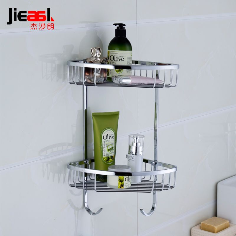 Jieshalang Brass Bathroom Shelves Corner Shower Shelf For Bathroom