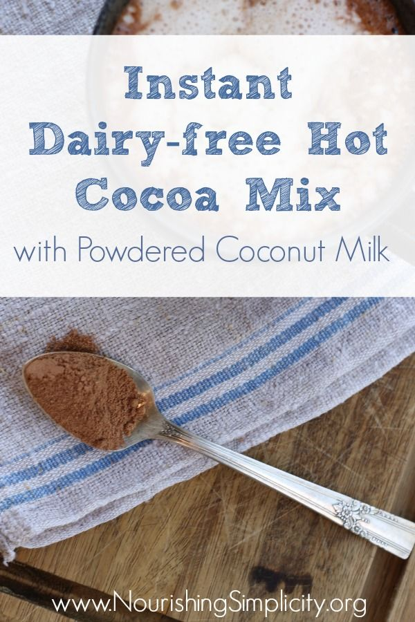 Instant Dairy Free Hot Cocoa Mix Nourishing Simplicity Hot