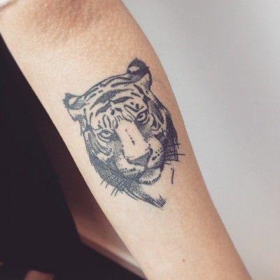 Small Tiger Head Tiger Head Done By Mar 237 A Fern 225 Ndez Tattooartist Tiger Tattoo Design Tattoos Tiger Tattoo