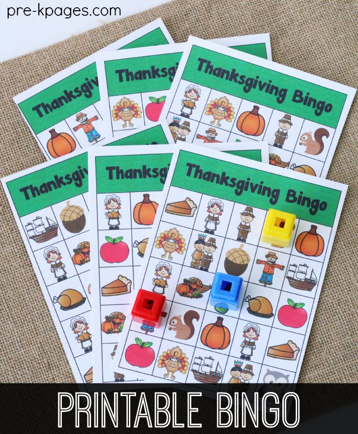 Printable Thanksgiving Bingo | THANKSGIVING THEME for PRESCHOOL by ...