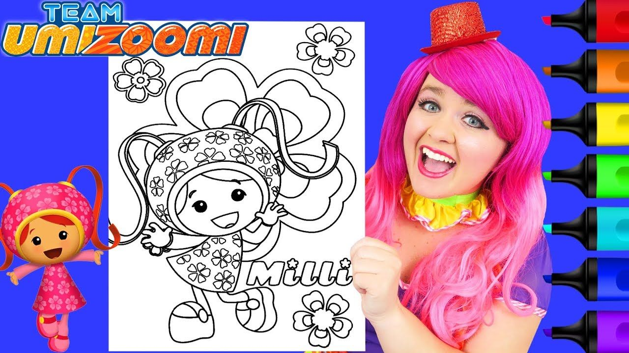 Coloring Milli Team Umizoomi Coloring Page Prismacolor Paint Markers K Crayola Coloring Pages Coloring Pages Marvel Coloring [ 720 x 1280 Pixel ]