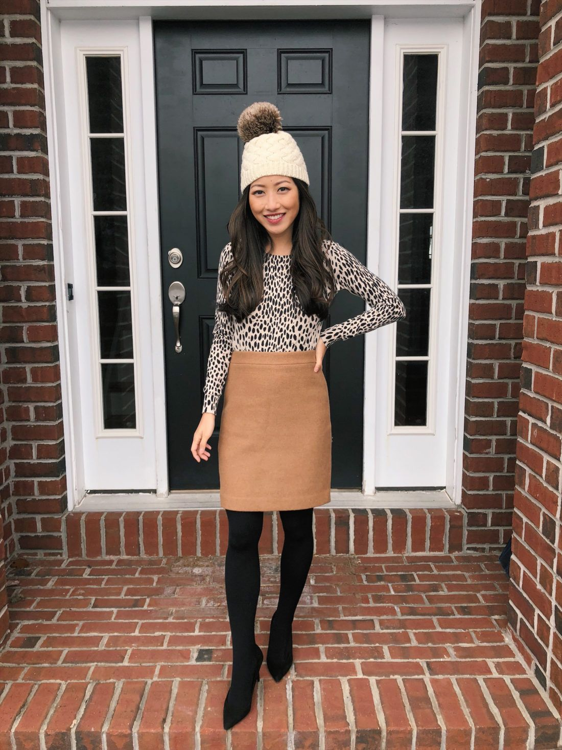 Winter Must Have Fleece lined tights | Pencil skirt