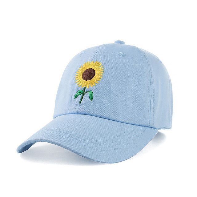 01d442bff9b8a New Fashion Sunflower Embroidery Baseball Caps Cotton Snap back Hats Caps  For Men Women Adjustable Couple Cap