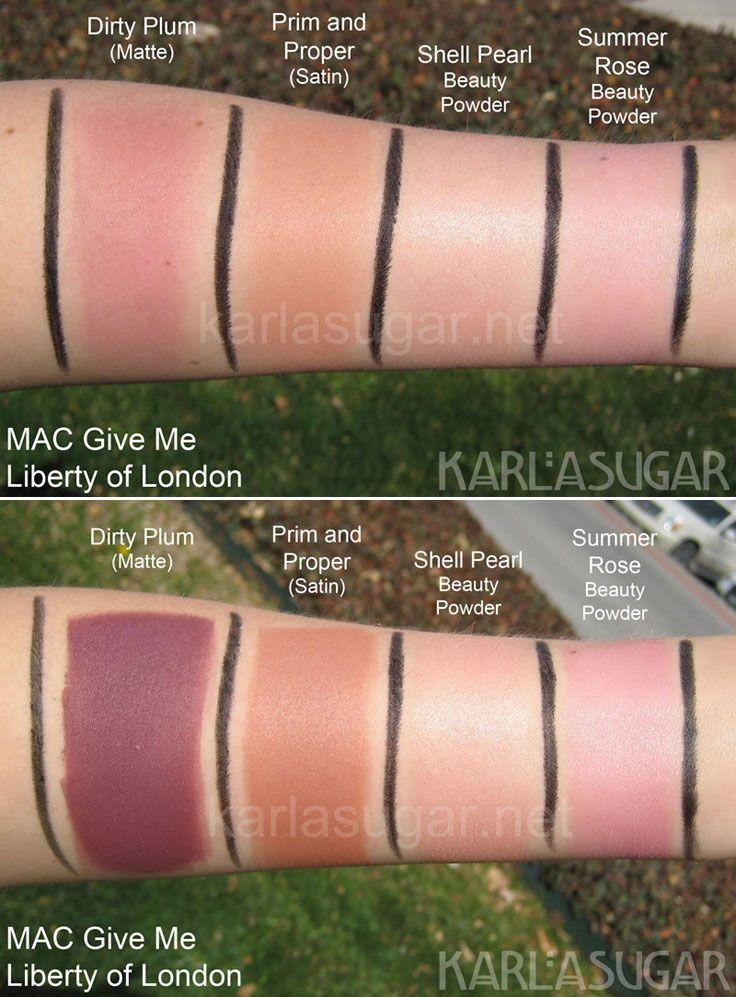 Mac Prim & proper blush vs Nars Madly blush