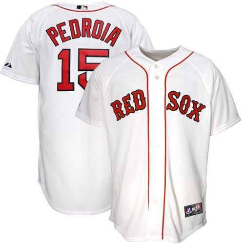 info for 49943 c0abb Dustin Pedroia men's Boston Red Sox jersey (white) | Tops ...