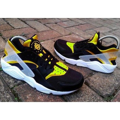 Nike Air Huarache Black Yellow Sneaker Sale UK | Nike free ...
