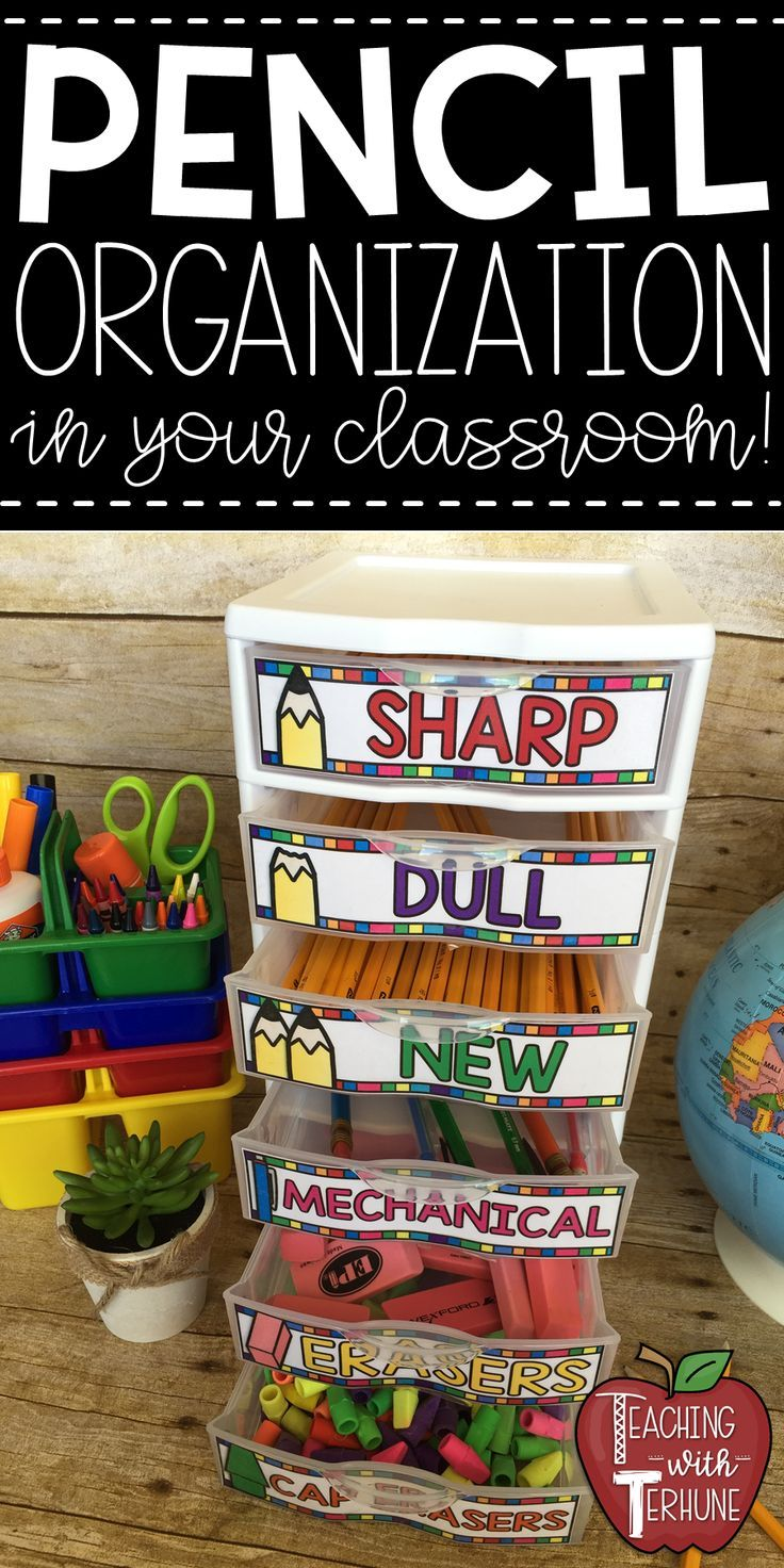 Crayon & Pencil Organization Labels for Sterilite 3 Drawers {Sharp/Dull Pencils}