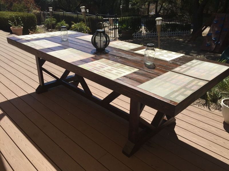 Diy Large Outdoor Dining Table Seats 10 12 Diy Outdoor Table