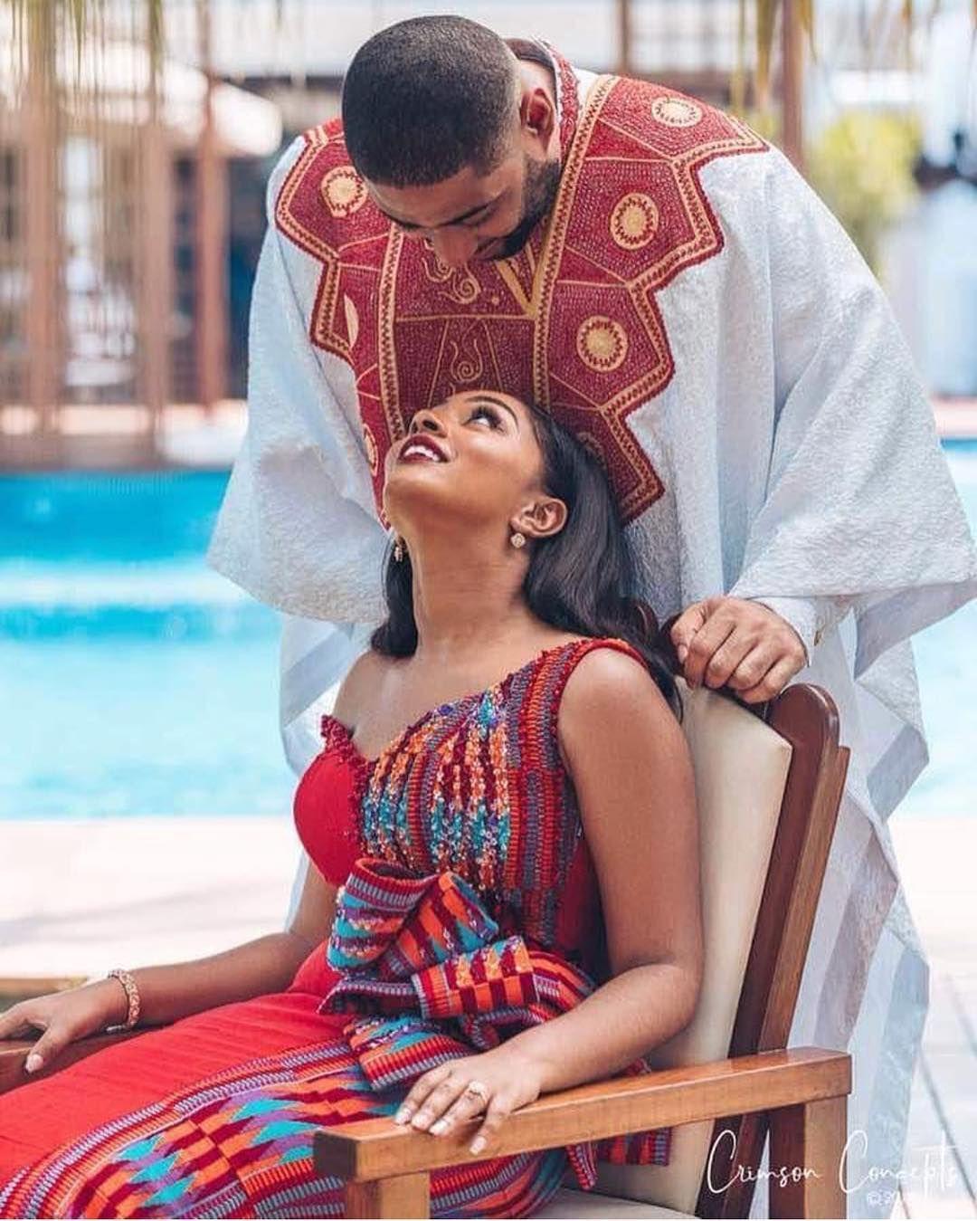 Hen I Look Into Her Eyes Congratulations To Joel And Anisha Joelandanisha18 Kingdomroyalwedding Stylecapitalwedding African Attire Kente Congrats