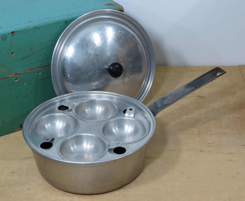 Vintage Wear Ever Egg Poacher Pot 2424  Aluminum Poached Egg Pan  Made In  Usa Circa  Mid Century Wearever Cooking  Egg Poaching Pan