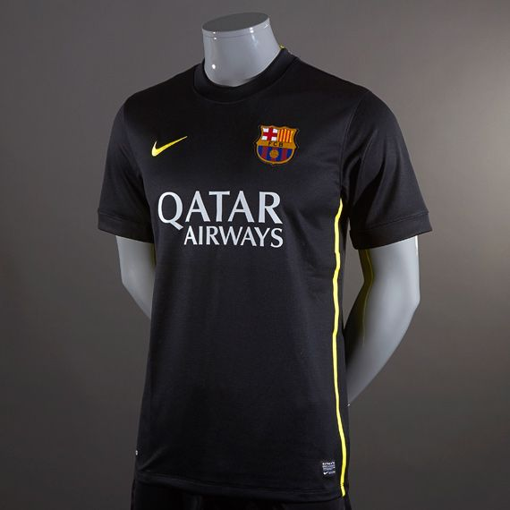 a3ce6696abb Football Shirts - Nike Barcelona 2013 14 Third Replica Short Sleeve Jersey  - Replica Clothing - Black-Vibrant Yellow  pdsmostwanted