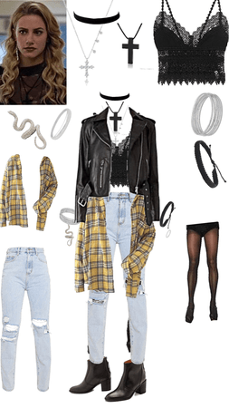 Young Alice Cooper Outfit Shoplook In 2020 Betty Cooper Outfits Teenage Fashion Outfits Bad Girl Outfits