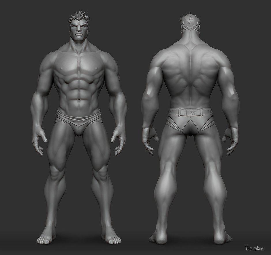 Male Anatomy Study by Yekaterina Bourykina   Fan Art   3D ...