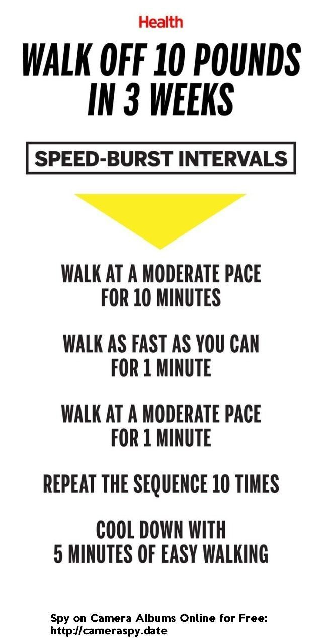 Walk Off 10 Pounds In 3 Weeks With This Speed Burst Interval Walking