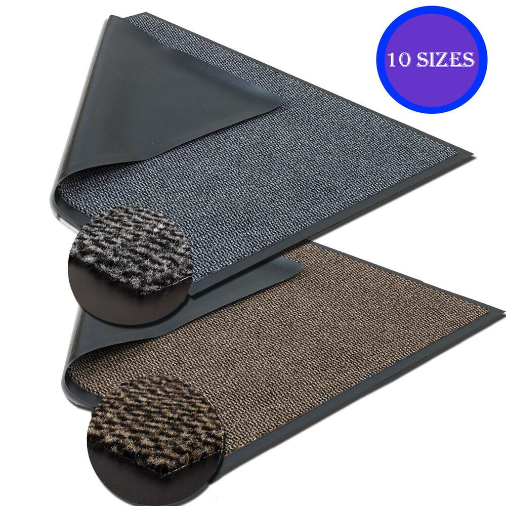 Large Heavy Duty Non Slip Rubber Back Barrier Mat Kitchen Door