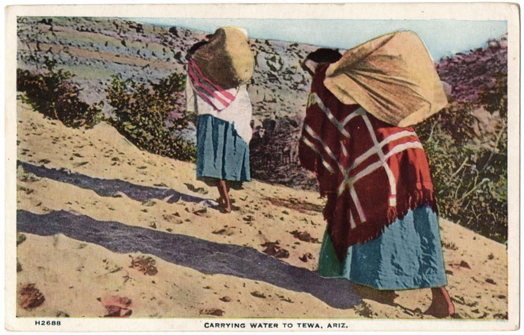 Art Monument Valley Postcard Navajo Native American Indian AZ Sandpainting