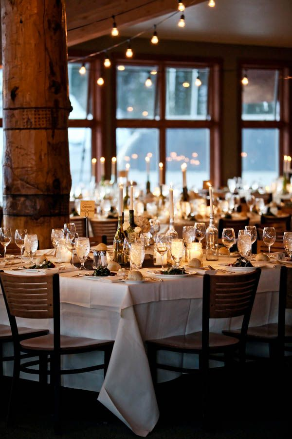 Snowy mountain wedding at canyons resort ut pepper nix for Hotel wedding decor
