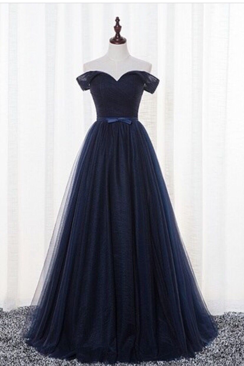 dark blau tulle kleid