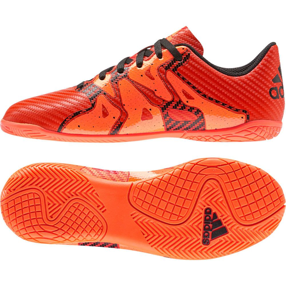 Adidas X15.4 IN Junior Futsal Shoes Soccer S83170 Solar Orange Indoor Sports