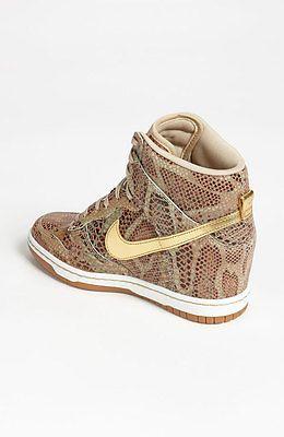 Auth Nike Sky High Dunk Hi Top Sneakers Yots Snake Wedge Sz 7 5 New |