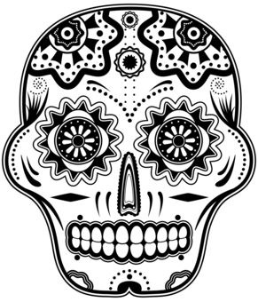 Mexican Sugar Skull Colouring Pages Page 2 Skull Coloring Pages Colouring Pages Mexican Sugar Skull