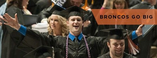 BRONCOS GO BIG!  Boise State's largest graduation ceremony to date, Spring Commencement honors nearly 2,700 students who have earned 2,392 degrees. The ceremony will begin at 10 a.m. Saturday, May 18 at Taco Bell Arena.  Visit http://boi.st/SpringCommencement for all the details, including a link to watch the live webcast.   Use the #BoiseState hashtag on Instagram and Twitter to share your commencement experience.  Congratulations Broncos!