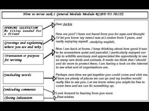 Ielts General Task  Writing Sample Answer Band  Letter   See A