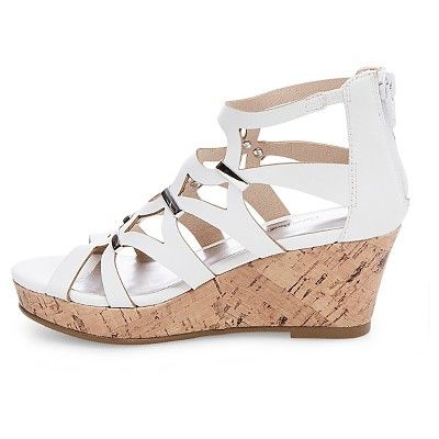 f41543fa95d Girls  Nicolina Wedge Gladiator Sandals Cat   Jack - White 13 ...