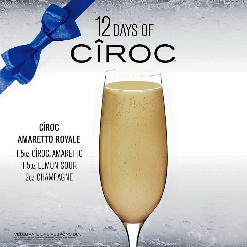 Ciroc Amaretto Royale/ Amaretto Sour/ Champagne/ Cocktail