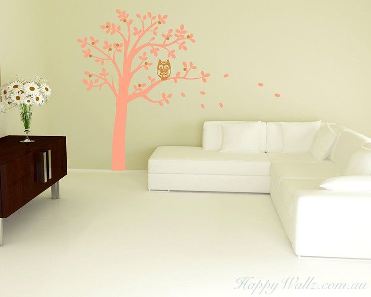 Tree and Owl Wall Decal | Tree art