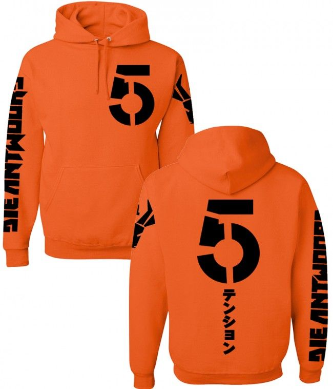 Die Antwoord Orange Pullover Hooded Sweatshirt
