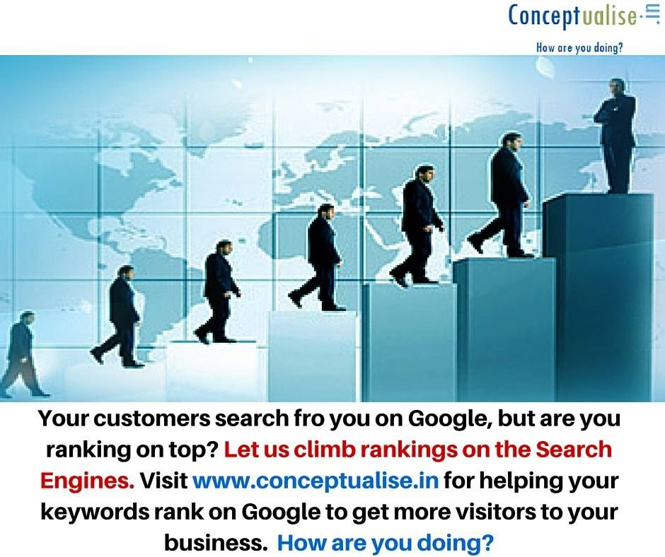 We help your site rank on Google at Conceptualise.in