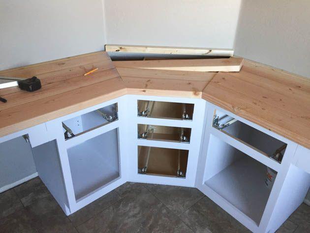 Terrific Build A Wood Plank Desktop For About 40 Home Office Interior Design Ideas Helimdqseriescom