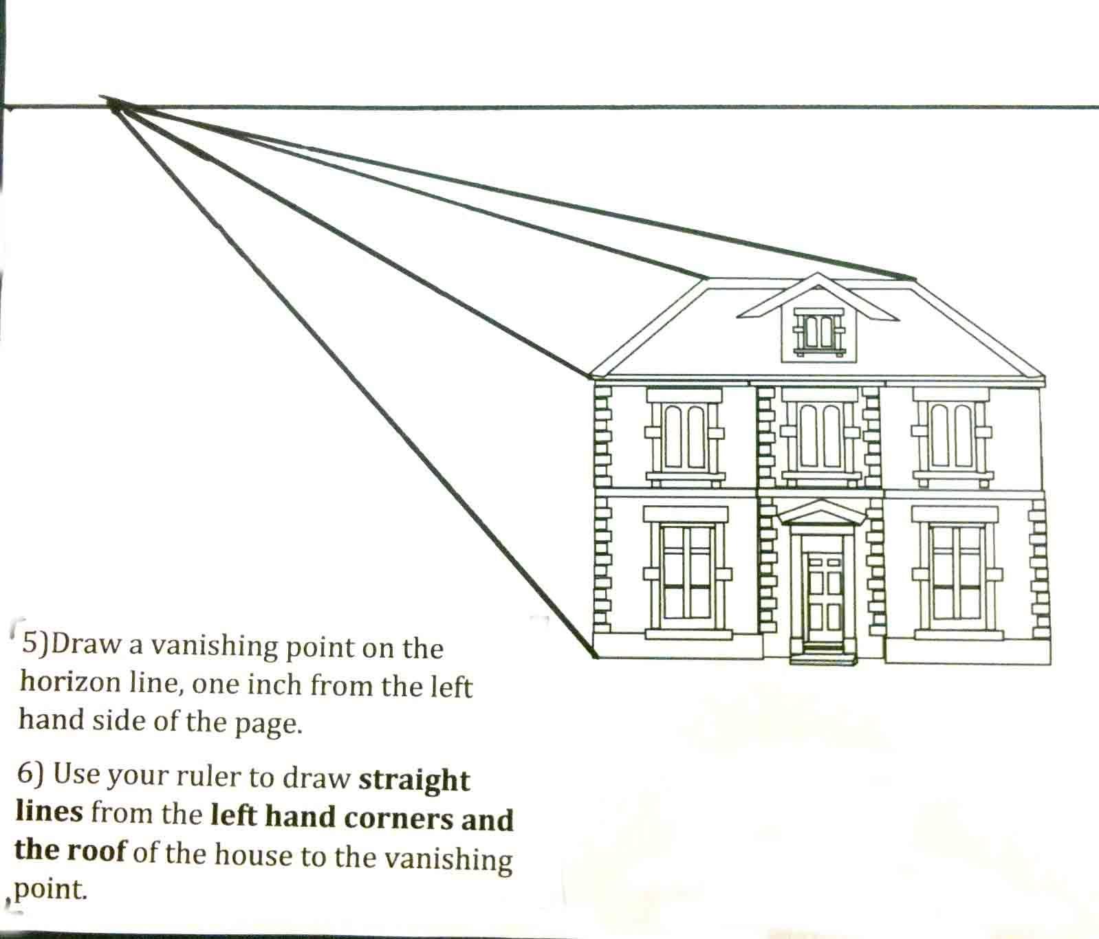 The Helpful Art Teacher Perspective Drawing 101 Drawing A House And A Hallway