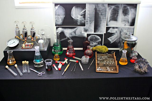 great halloween science party decor Mad Science Parties with - mad scientist halloween decorations