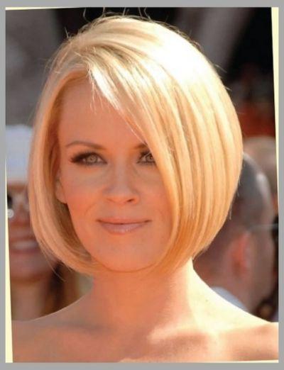 Jenny Mccarthy Bob Haircut Back View Angled Bob Haircuts Thick Hair Styles Haircuts For Fine Hair