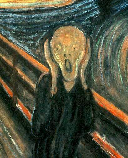 Perfect halloween art lesson on The Scream, Munch.
