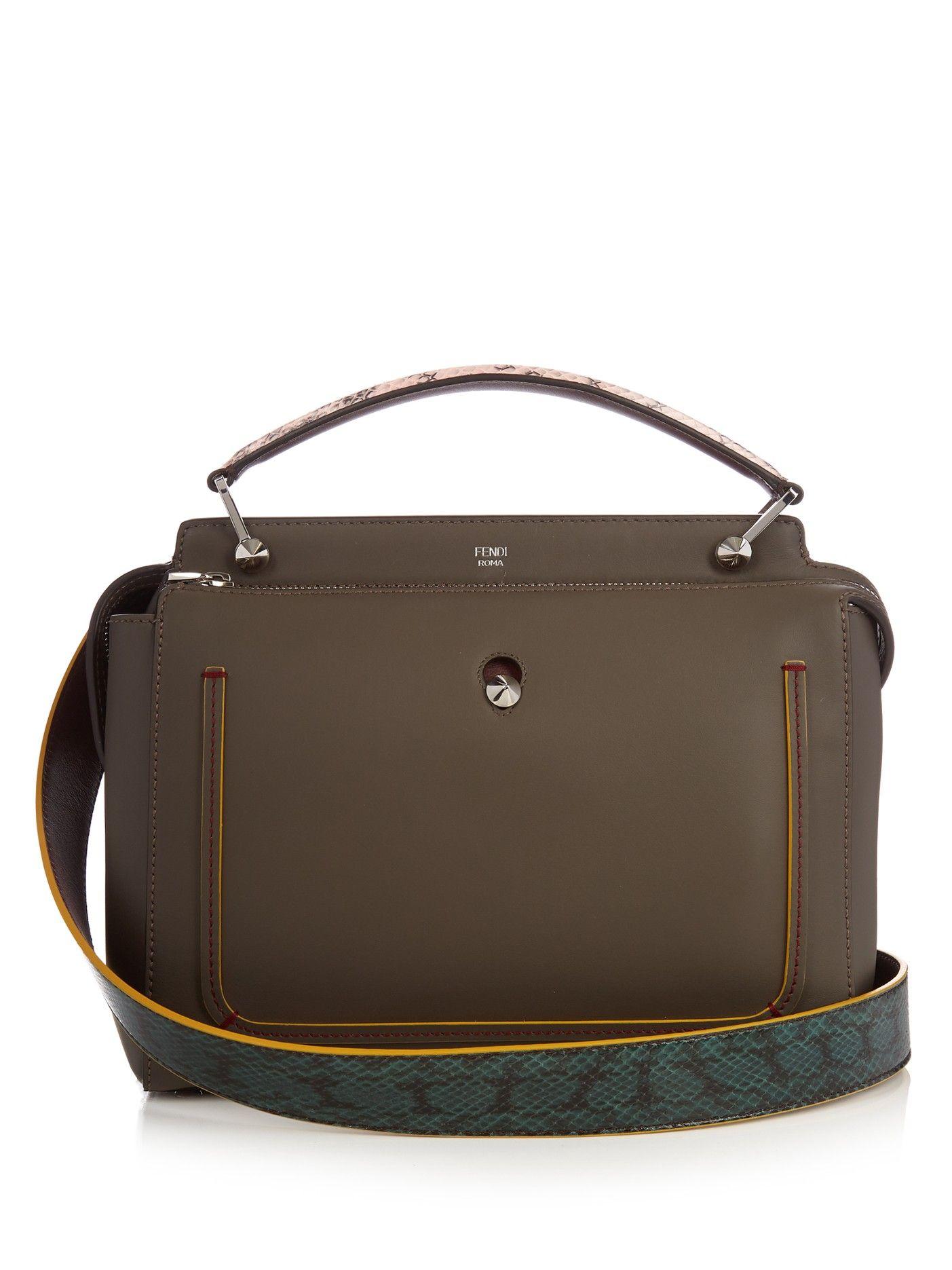 508de2f9365a Fendi Dotcom leather and ayers bag