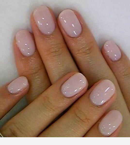 Short natural nude nails