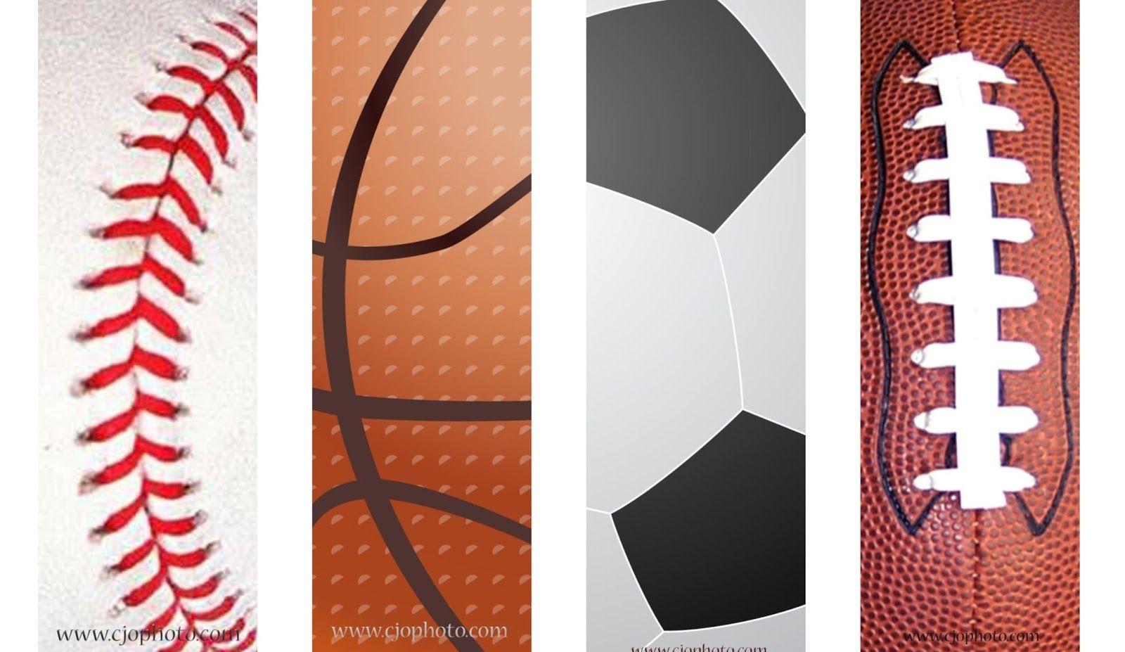 Printable Bookmarks Sports