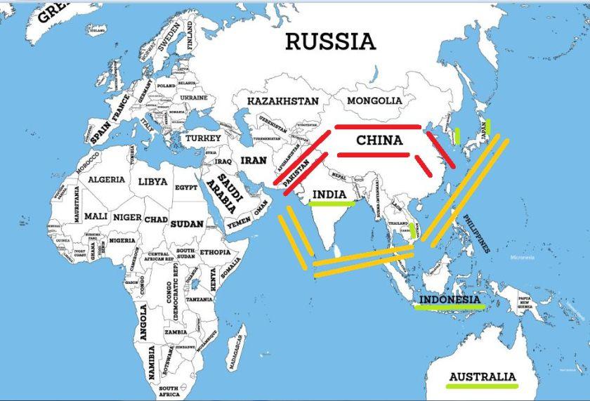 India VS China India - India us map