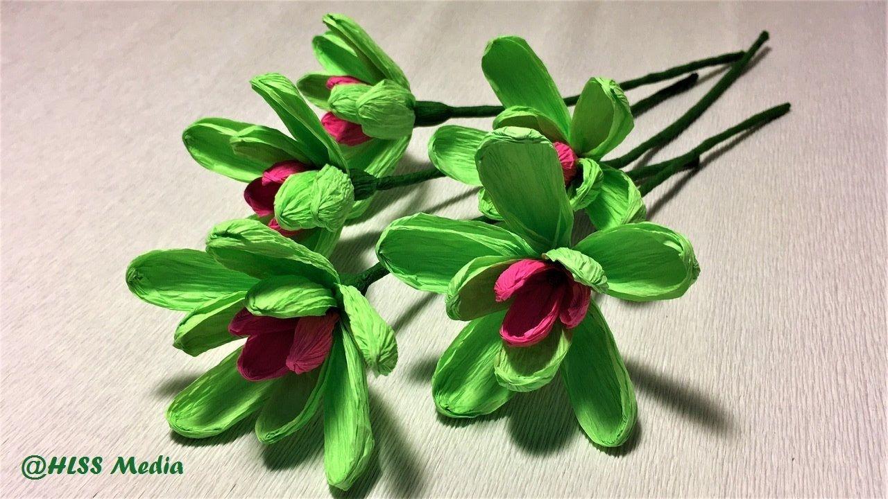 How to make an easy origami magnolia sieboldii paper flower making how to make an easy origami magnolia sieboldii paper flower making crepe paper flower step by step mightylinksfo