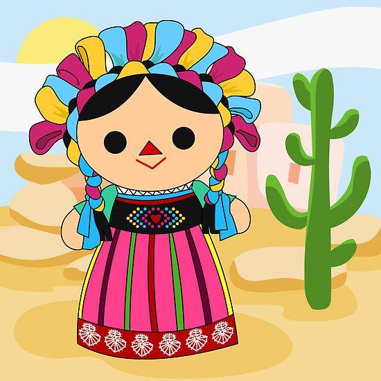 Munequita Mexicana Fiestas Patrias De Mexico Munecas Mexicanas Munecas De Trapo Mexicanas