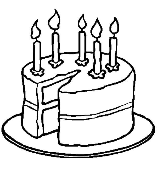 Pin Di Birthday Cake Coloring Pages