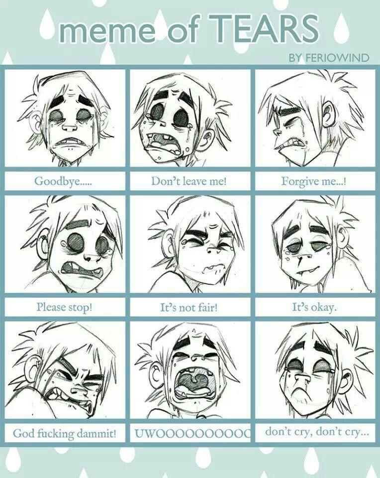 2D emotions Gorillaz art, Gorillaz, Gorillaz 2 d