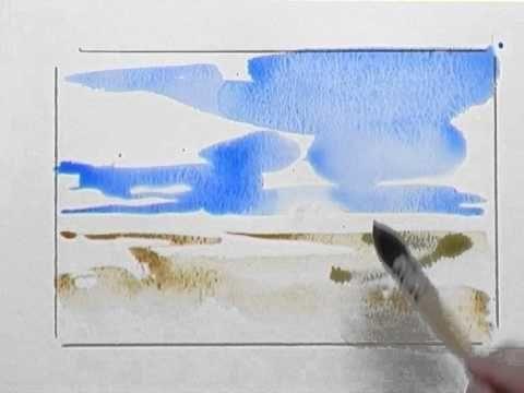 Bettags Malschule Mein Erstes Aquarell Landschaft Youtube