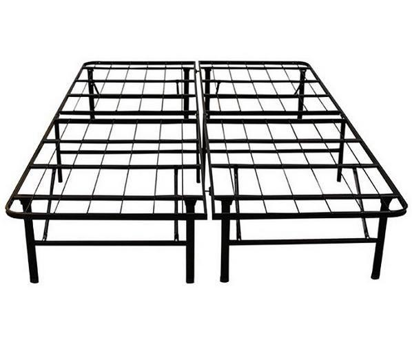 Deluxe Raised Metal Platform Frame Metal Platform Bed Metal