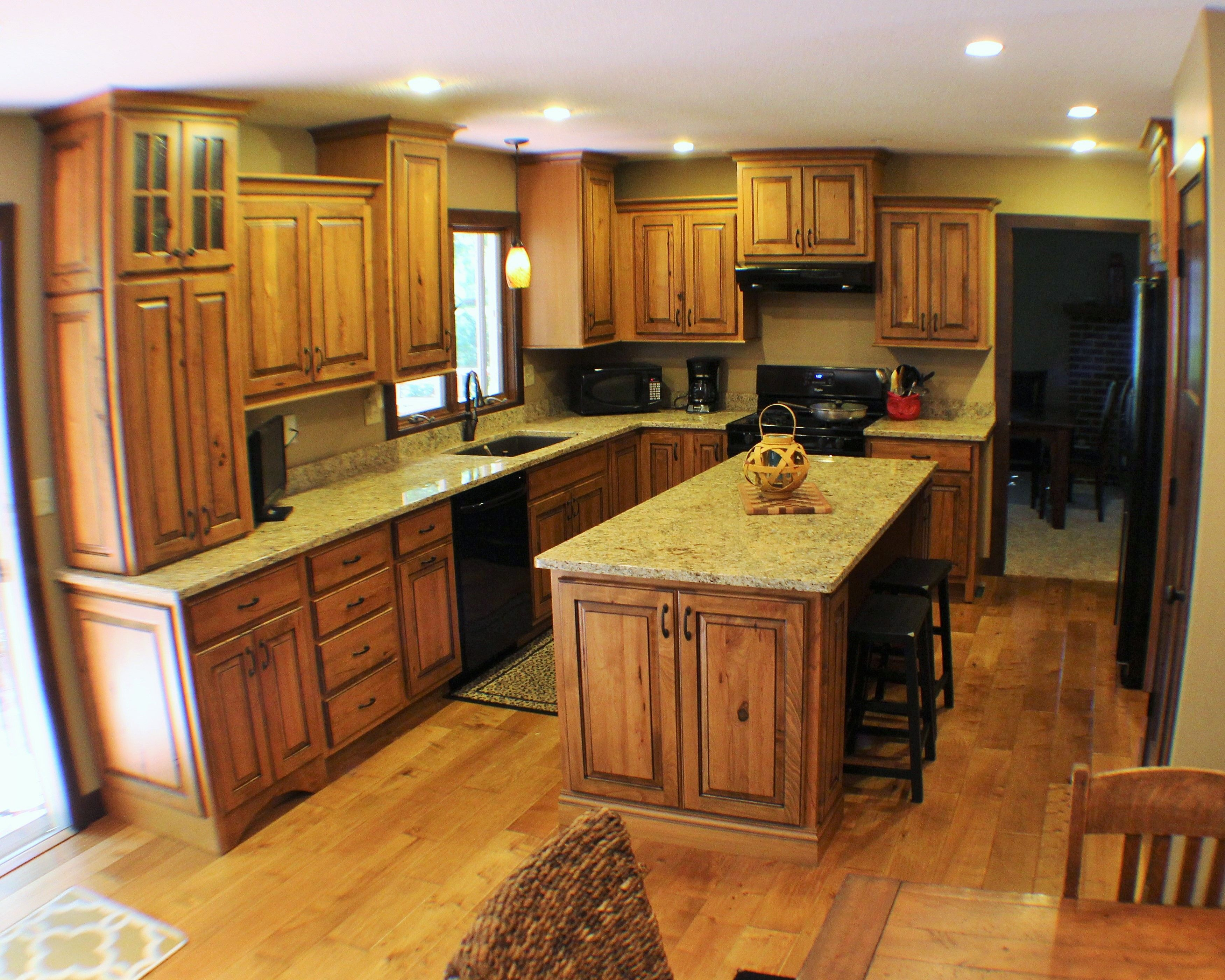 Rustic Beech Kitchen Remodel In Walnut Il By Village Home Stores Houzz Com Kitchen Remodel Traditional Kitchen At Home Store