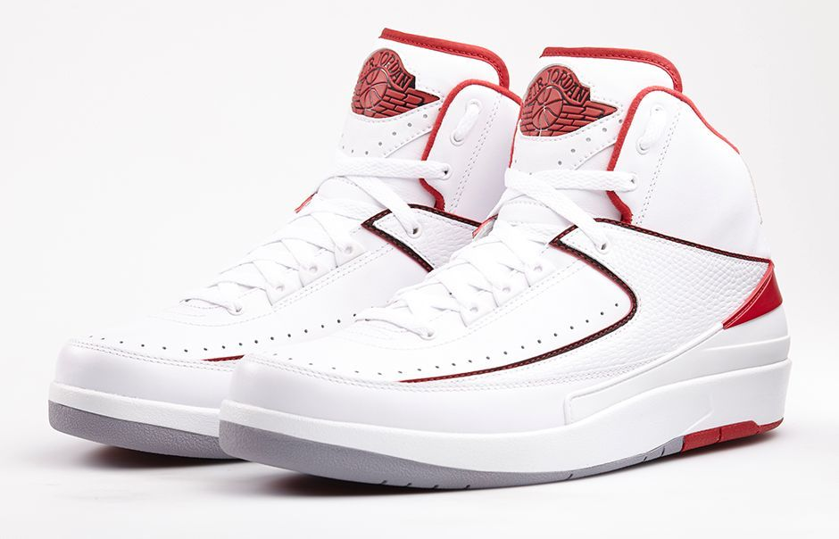 huge selection of 5b639 4c5a3 AIR JORDAN 2 RETRO  WHITE VARSITY RED  White Black-Varsity Red-Cement Grey